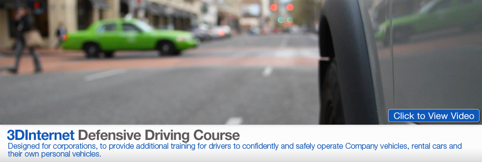 Defensive Driving: Designed for corportations, to provide additional training for drivers to confidently and safely operate company vehicles, rental cars and their own personal vehicles.