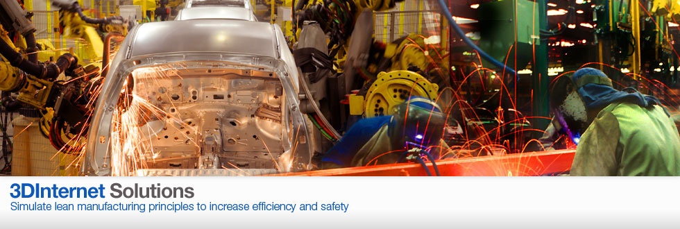 Simulate lean manufacturing principles to increase efficiency and safety.